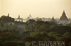 Mist over Temples, Bagan, Myanmar (formerly Burma)