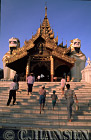 People entering Shwedagon Paya, Myanmar (formerly Burma)