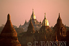 Sunrise over Ananda Pahto, Bagan, Myanmar (formerly Burma)