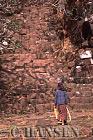 Crumbling stairs, Wat Phu, Champassak, Ancient Angkor, Laos