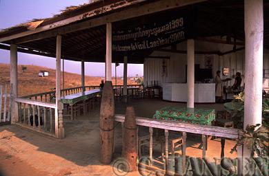 American Bombs in front of Ticket Office, Plain of Jars, Phonsavan, Laos