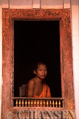 Buddhist Monk, Laung Probang, Laos