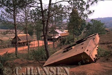 Russian Tank Wreck, Legacy from Vietnamese War, Phonsavan, Laos