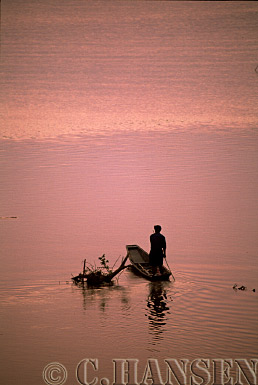 Fishing Boat, Makong River, Vientiane, Laos