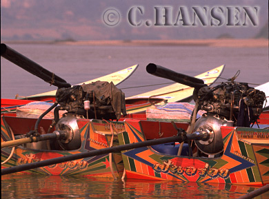 Speed Boats, Makong River, Laos