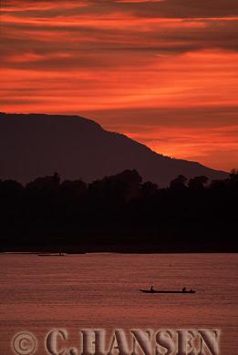 Fishing Boat, Makong River, Four Thousand Islands, Laos