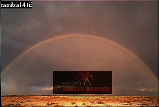 RAINBOW, Etosha National Park, Namibia
