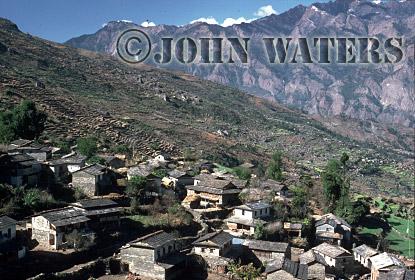 Village of Shika, near Tatopani, Nepal, Asia