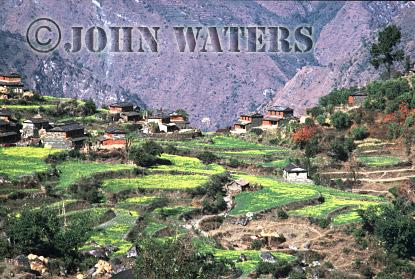 Village of Ghara, near Tatopani, Nepal, Asia