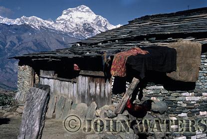 Typical Dwelling, north of Ghorepani, Nepal, Asia