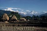Rice straw ricks, south of Kusma, Nepal, Asia