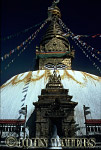 Stupa and prayer flags at Bodnath shrine, Kathmandu, Nepal, Asia