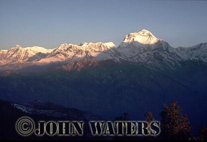 Dhaulagiri range at dawn, from Poon Hill, Nepal, Asia
