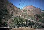 Suspension Bridge over Kali Gandaki River, Near Baglung, Nepal, Asia