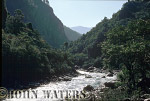 Kali Gandaki River, flowing south towards Beni, Nepal, Asia