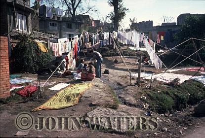 Communal Clothes-lines, Kathmandu, Nepal, Asia