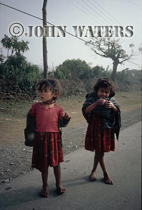 Young girls, Pokhara, Nepal, Asia