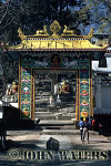 Gateway to Swayambhunath-the monkey temple, Kathmandu, Nepal, Asia
