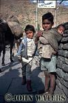 Young boys near Tatopani, Nepal, Asia