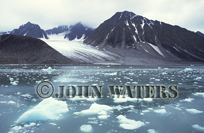 Magdalene Fjord in Summer, Svalbard, Norway, Scandanavia, Arctic