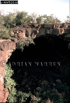 LAVA TUBE, Mount Suswa, African Rift Valley, Kenya, 1988