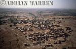 Aerials (aerial image) of Africa : Settlement on plateau area near BANDIAGARA,Mali