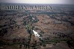 Aerials (aerial image) of Africa : River on plateau area near BANDIAGARA,Mali