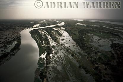 Aerials (aerial image) of Africa : NIGER DELTA near MOPTI,Mali