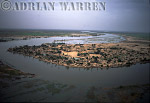 Aerials (aerial image) of Africa : NIGER DELTA and settlement of DJAFARABE,Mali