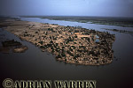 Aerials (aerial image) of Africa : Settlement of DJAFARABE on NIGER DELTA,Mali