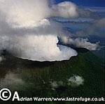 Aerials (aerial image) of Africa: Nyiragongo, Virunga Volcanoes, Congo, 2003