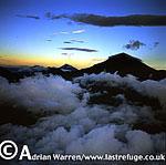 Aerials (aerial image) of Africa: Mount Karisimbi, Virunga Volcanoes, Rwanda, 2003
