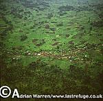 Aerials (aerial image) of Africa: Intensive agriculture in Rwanda, 2003