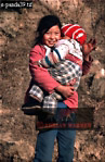 Village of HUAYAN, Qinling Mts., Shaanxi, China, 1993