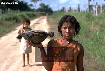 MESTIZO Girl, Rio Jurua, Brazil, 1978