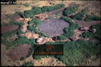 MASAI ENCLOSURES from Air, Ngorongoro, Tanzania