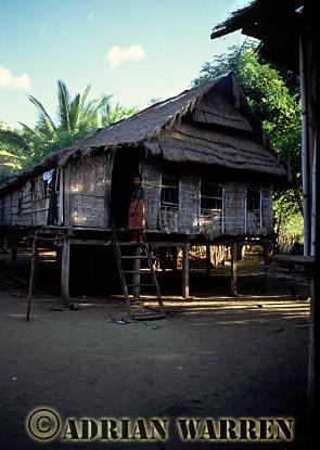 A house on Island of Rinca, Near Komodo, Indonesia