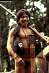 WAORANI INDIANS Return from Hunt with Saki Monkey, Cononaco Area, Ecuador, 1983