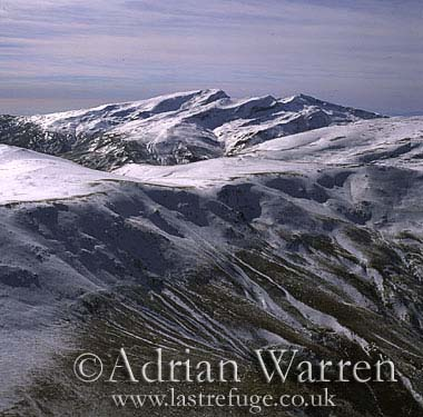 Aerials (aerial image): Sierra Nevada (in November), Spain, Europe