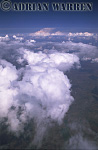 Cumulus clouds over Illinois, USA