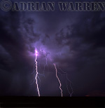Lightning and tornadic storm near Sweetwater, Texas, USA