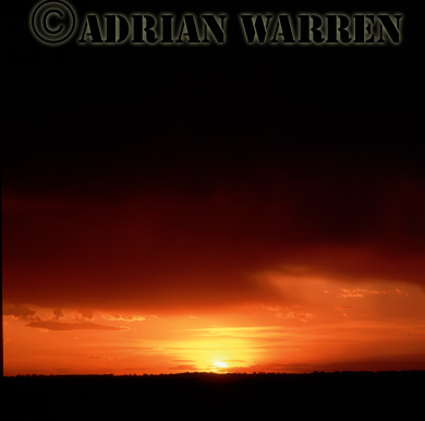 Storm clouds at sunset, Texas, USA