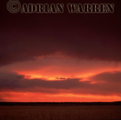 Storm clouds at sunset, Texas, USA