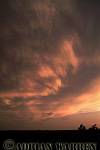 Mammatus at sunset, Oklahoma, USA
