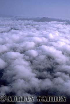 Aerials (aerial photo) of Tepuis, South America: Gran Sabana under clouds, Venezuela