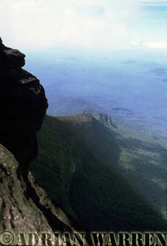View looking down from the Prow of Mount Roraima, Venezuela