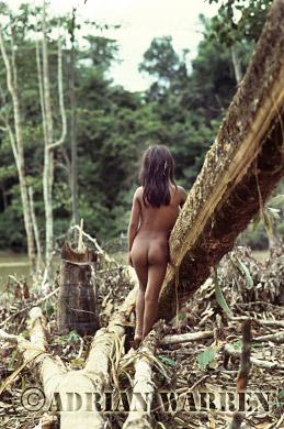Waorani Indian girl, rio Cononaco, Ecuador, 1983