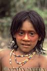 Waorani Indians : Use of ACHIOTE for face decoration, rio Cononaco, Ecuador, 1983