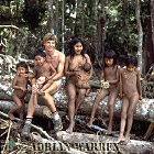 Waorani Indians: a family with Adrian Warren : rio Cononaco, Ecuador, 1983