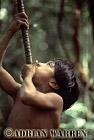 Waorani Indians, Boy learning to use Blowgun, near rio Cononaco, Ecuador, 1983
